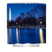 Monument In Blue Shower Curtain
