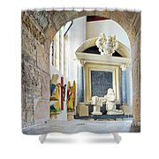 Monument In St Mylor Church Shower Curtain
