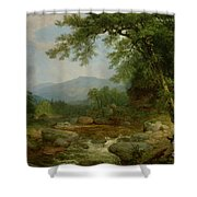 Monument Mountain - Berkshires Shower Curtain by Asher Brown Durand
