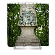 Monument Of Major Obrien In Jedlesee Vienna Shower Curtain