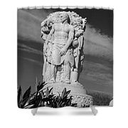 Monument Of Man Shower Curtain