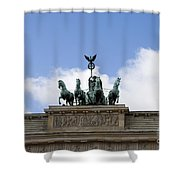 Monument On Brandenburger Tor  Shower Curtain