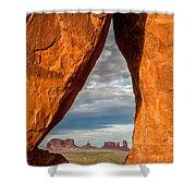 Monument Teardop Shower Curtain