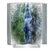 Monument To Francisco Ferrer Y Guardia Shower Curtain