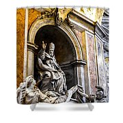 Monument To Pope Gregory Xiii In St Peter's Basilica Shower Curtain