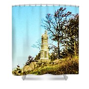 Monument To The 91st Pennsylvania  Volunteers Shower Curtain
