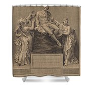 Monument To William Shakespeare Shower Curtain