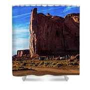 Monument Valley Corral Shower Curtain