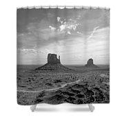 Monument Valley Monochrome Shower Curtain