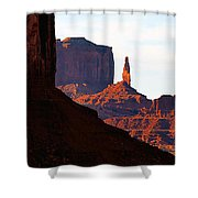 Monument Valley Pano Work D Shower Curtain