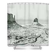 Monument Valley, Winter Shower Curtain