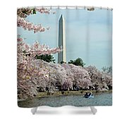 Monumental Cherry Blossoms Shower Curtain
