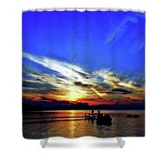 Mood Ring Sunset Shower Curtain