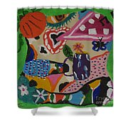 Moodigras Shower Curtain