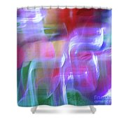 Moods Abstract Square Shower Curtain
