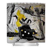Moods Yellow Let It All Hang Out Shower Curtain