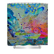 Moody Blues1 Shower Curtain by Kate Word