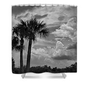 Moody Florida Sky Shower Curtain