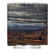 Moody Mountain View Shower Curtain