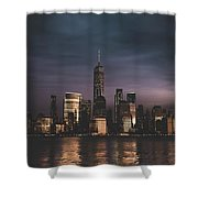 Moody Nyc Shower Curtain