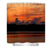 Moody Reds Shower Curtain