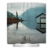 Moody Reflection Shower Curtain