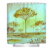 Moody Woods Shower Curtain