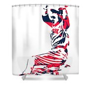 Mookie Betts Boston Red Sox Pixel Art 1 Shower Curtain