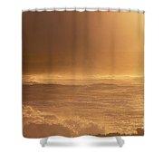 Moomomi Beach Sunset Shower Curtain
