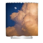 Moon And Cloud Shower Curtain