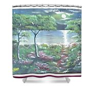 Moon And Forest Shower Curtain