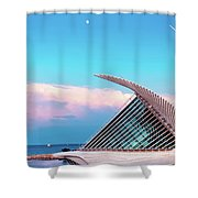 Moon And Mam At Sunset Shower Curtain