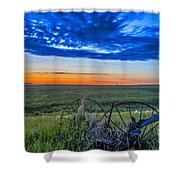 Moon And Venus In Conjunction At Dawn Shower Curtain