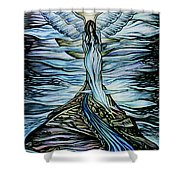 Moon Angel Shower Curtain