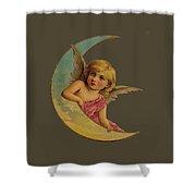 Moon Angel T Shirt Design Shower Curtain