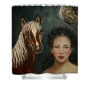 Moon Beams Shower Curtain