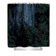 Moon Berries Shower Curtain