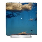 Moon Between The Clouds Shower Curtain