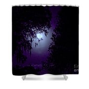 Moon - Between - The - Trees Shower Curtain
