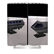 Moon Bus - Gently Cross Your Eyes And Focus On The Middle Image Shower Curtain
