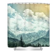 Moon By Day Shower Curtain
