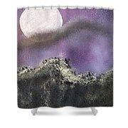 Moon Captured Shower Curtain