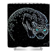 Moon-cat  Shower Curtain