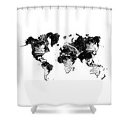 Moon Craters Shower Curtain