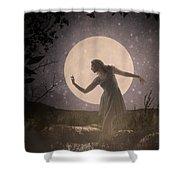 Moon Dance 001 Shower Curtain