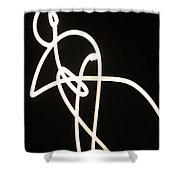 Moon Drawings Shower Curtain