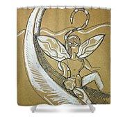 Moon Fairy Shower Curtain