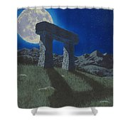 Moon Gate Shower Curtain