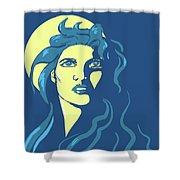 Moon Girl Shower Curtain