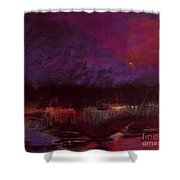 Moon Glow 5-6-11 Julianne Felton Shower Curtain